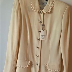 Valentino Auth 100% NWT blazer and skirt suit
